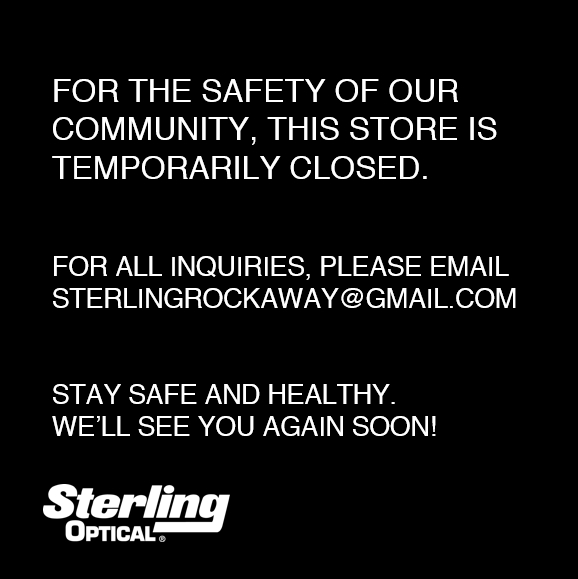 Sterling Optical Rockaway Temporary Closed Message