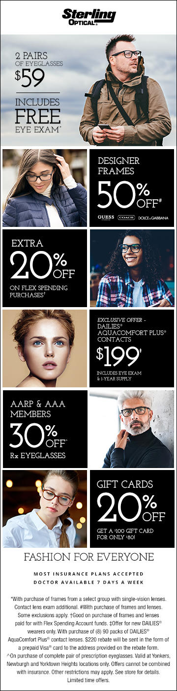 Sterling Optical Yonkers Newburgh Yorktown Heights Dec 2018 Offers