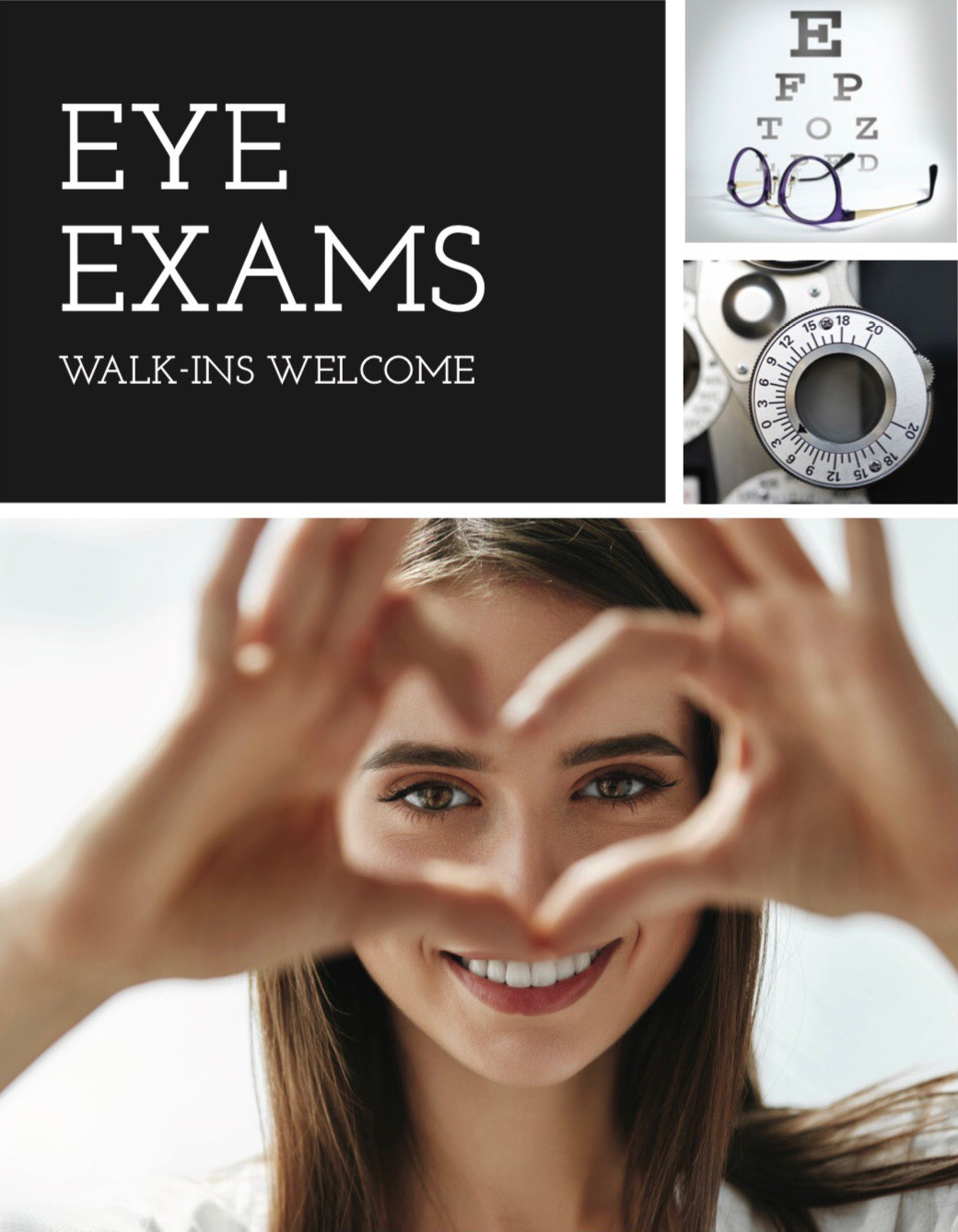 Eye Exams - Walk-ins Welcome