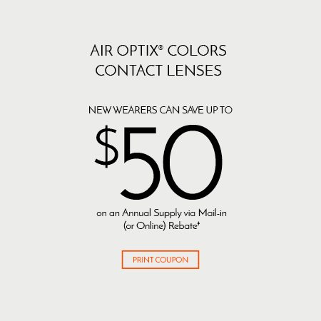 Air Optix® Colors Contact Lenses - New Wearers Can Save Up tp $50 on an Annual Supply via Mail-in (or Online) Rebate†
